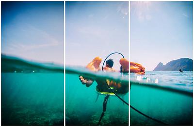 Surfing  at Uluwatu,Racetracks,Indonesia  Date: Jun 19, 2014 Time: 01:38.PM Model: Canon EOS 7D Lens: EF8-15mm f/4L FISHEYE USM